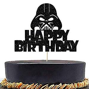 Anxdh Alien War Darth Vader Cake Topper Decoration Children's Birthday Party Decoration, Alien War Themed Party