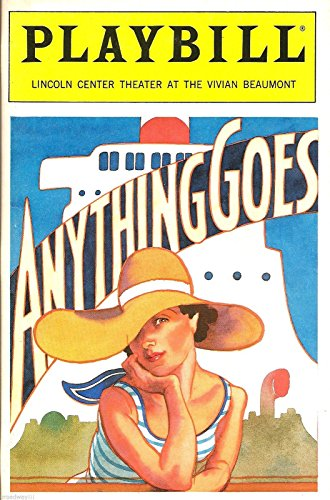 """Patti LuPone """"ANYTHING GOES"""" Cole Porter / Howard McGillin 1989 Revival Playbill"""