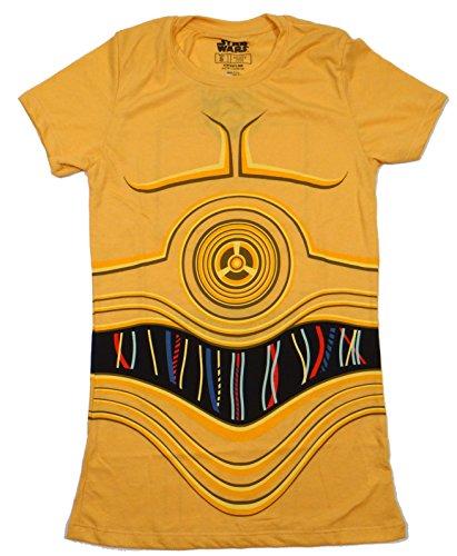 Star Wars I Am C-3PO Costume Juniors T-shirt (Medium, French Fry)