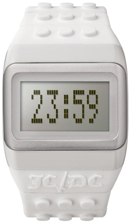 ODMJC01-14 Unisex JD - DC Knall-Stunden weißes Plastikband-graues Digital-Zifferblatt
