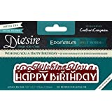 Crafters Companion Diesire Edge'Ables Only Words Wishing You A Happy Birthday, Green