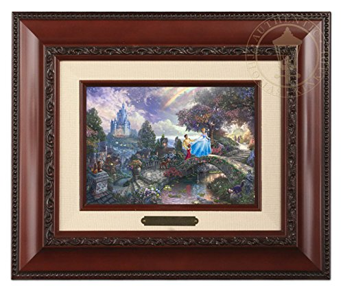 (Thomas Kinkade Disney Cinderella Wishes Upon a Dream Brushwork (Brandy))