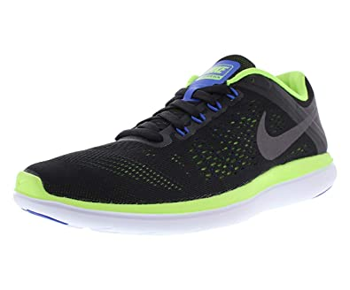 4c849107fd96 NIKE Men s Flex 2016 RN Running Shoe Black Dark Grey Ghost Green White Size  10. 5 M US  Buy Online at Low Prices in India - Amazon.in