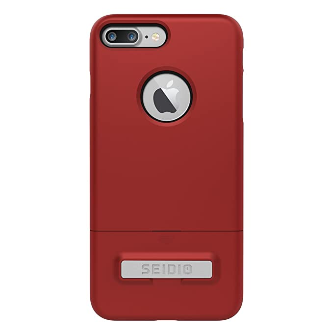 designer fashion e5ca6 9a9cf Seidio Surface Case with Kickstand for Apple iPhone 7 Plus and iPhone 8  Plus (Dark Red/Black)