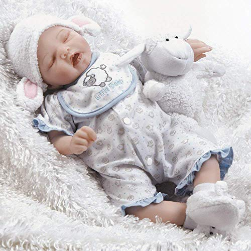 Paradise Galleries Reborn Newborn Baby Doll Sweet Dreams Mary with Sleeping Bag Carrier, a 6-Piece Ensemble, 19 inch GentleTouch Vinyl & Weighted Body