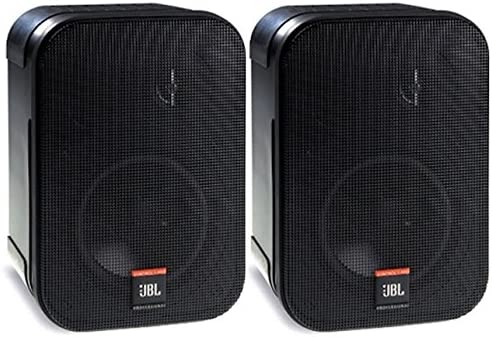JBL Professional Control 1 Pro High Performance 2-Way Professional Compact Loudspeaker System, Black sold as pair – C1PRO