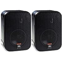 JBL Control 1 Pro高性能150瓦小型演播室监听音箱(2个装,黑色)