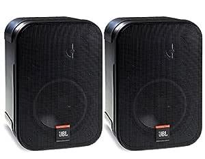 JBL Control 1 PRO - Pareja de Altavoces con soporte de 150 W (estéreo), negro