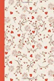 Journal: Pink Flowers and Hearts 6x9 - LINED JOURNAL - Journal with lined pages - (Diary, Notebook) (Hearts Lined Journal...