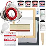 Speedball Emulsion Screen Printing Starter Bundle with Lamp