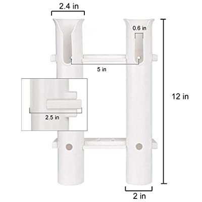 White Fishing Rod Holder With Stand Offs