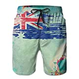 England Flags UK Newest Men's Workout&swim Trunks Quick Dry Beach Board Shorts