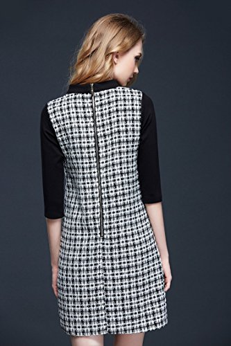 Color Atmospheric Bobbycool Dress Grey Female Simple Fashion Black Knitting HTaqEw5