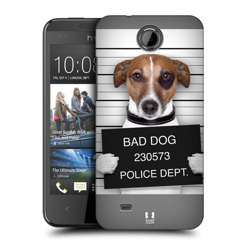Head Case Designs Bad Dog Mugshot Funny Animals Protective Snap-on Hard Back Case Cover for HTC Desire 300