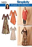 Simplicity Khaliah Ali Collection Pattern 1623 Women's Knit Dresses in 2 Lengths with Variations Sizes 20W-28W