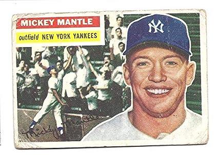 Mickey Mantle 1956 Topps 135 New York Yankees Baseball Card