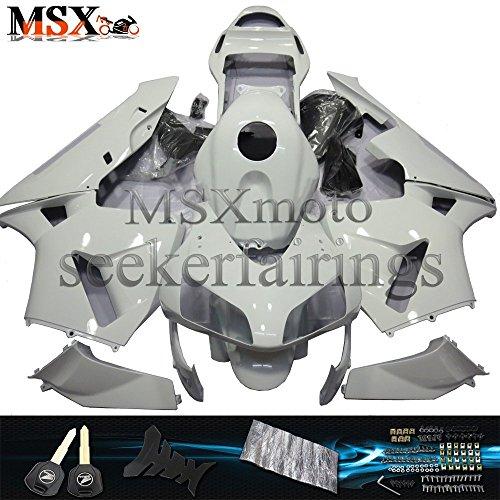 03 Motorcycle Fairing Kit - MSX-moto Fairing Kits Fit for Honda CBR600RR 2003 2004 F5 03 04 Motorcycle Fairing Kit Plastic ABS plastic Injection Molding Kit Complete Motorcycle Fairing Bodywork Painted(White)