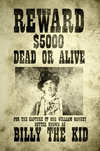 Gotham City Online Billy The Kid Wanted Vintage Style Art Print Poster 12x18 inch Billy The Kid Wanted Poster