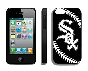 Best Iphone 4/4s Case MLB Chicago White Sox Sports Element Coolest Custom Made Mobile Accessories by mcsharks