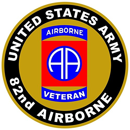 - Chiam-Mart 1 Pc Garnished Unique United States Army Veteran 82nd Airborne US Sticker Sign Vinyl Outdoor Truck Bumper Decor Wall Hoverboard Laptop Stickers Window Graphics Car Decals Size 12