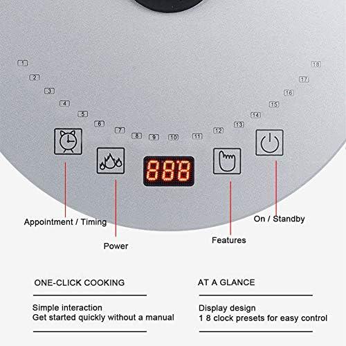 Température variable LCD commande numérique bouilloire électrique thé, eau de chaudière et chauffage, 1.8L, sans fil, arrêt automatique et protection à sec Ebullition