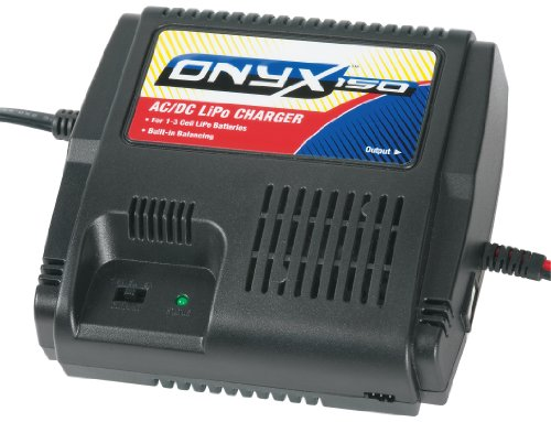 Duratrax Onyx One-Fifty AC/DC Balancing LiPo Charger with Power Supply, Connectors and Cooling Fan