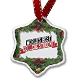 Christmas Ornament Worlds Best College Student - Neonblond