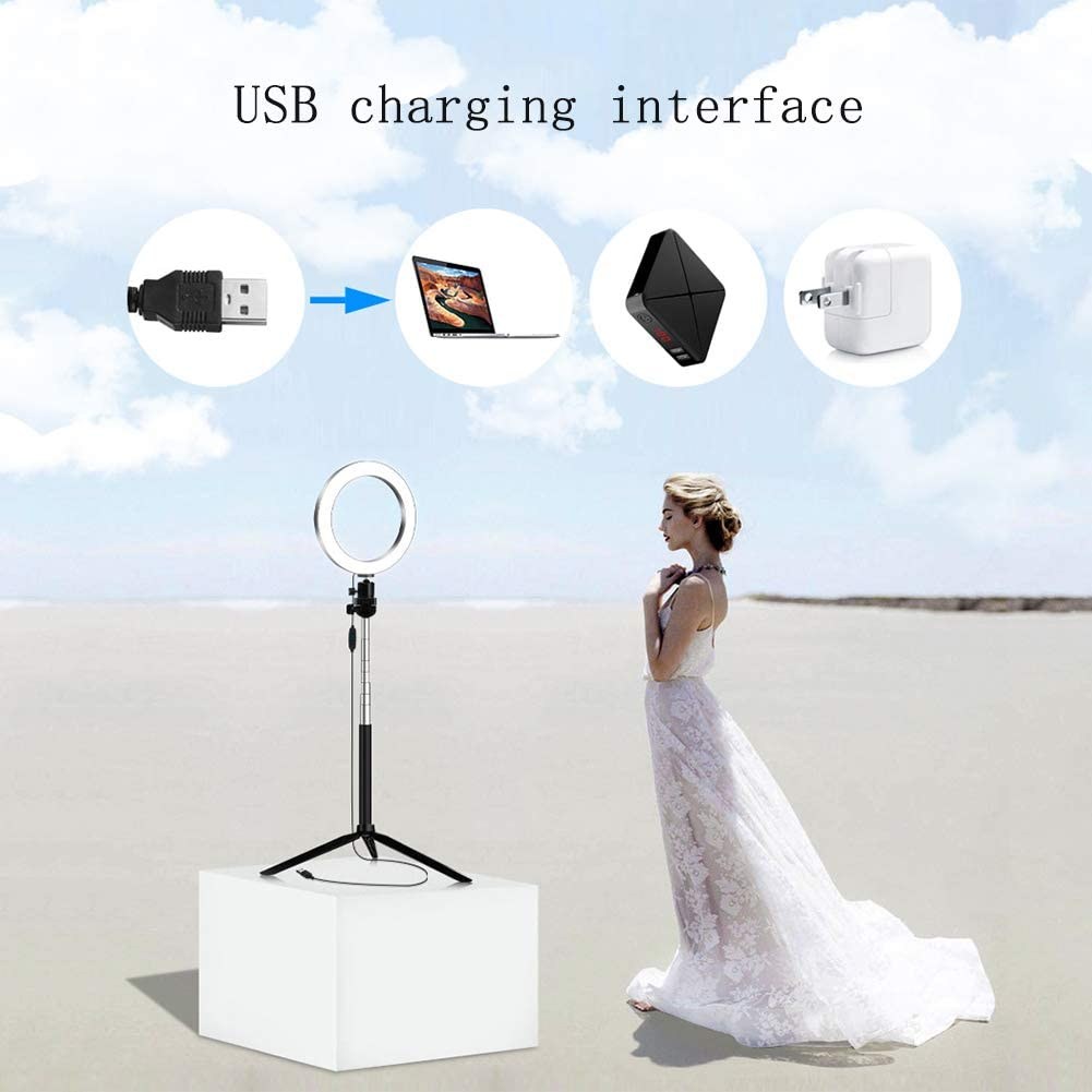 YAYONG Live Bracket Led Ring Beauty Fill Light 14.5cm Anchor Photography Live Fill Light