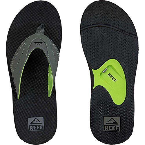 Reef Fanning Flip Flops Sandalen Sandals Black/Green