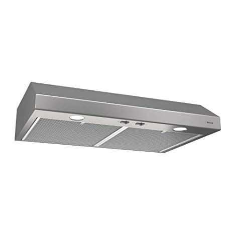 Broan-NuTone BCSD130SS Glacier Range Hood with Light, Exhaust Fan for Under  Cabinet, Stainless Steel, 0.6 Sones, 250 CFM, 30\