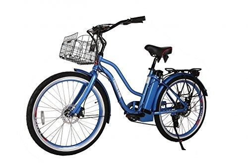 Cheap X-Treme Scooters Malibu ELITE Step Through Beach Cruiser eBike, Long Range Electric Bike (Baby Blue)