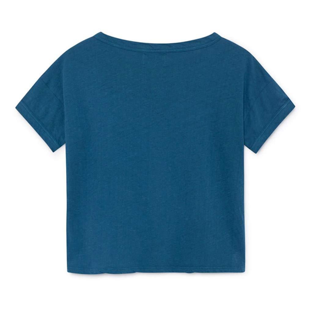 Ariestorm Summer Baby Kids Boy Girl Printed O-Neck T-Shirt Short Sleeve Tops
