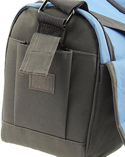 Size 24cm x 20.5cm x 14cm Camera Bag Stylish Canvas Digital Camera Bag with Strap