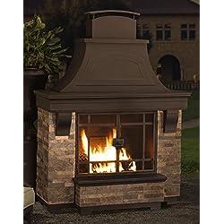 Sunjoy Japer Wood Burning Fire Place, Large