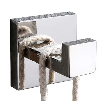 velimax sus 304 Acero inoxidable solo gancho Toalla Gancho perchero para baño Dormitorio Heavy Duty montado en la pared contemporáneo estilo: Amazon.es: ...