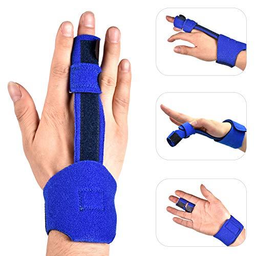 Trigger Finger Splint, Hand Finger Splint Support for Trigger Finger, Mallet Finger, Middle Finger, Pinky Finger, Ring Finger, Index Finger Brace, Broken Fingers, Injuries Sprains Finger Pain Relief