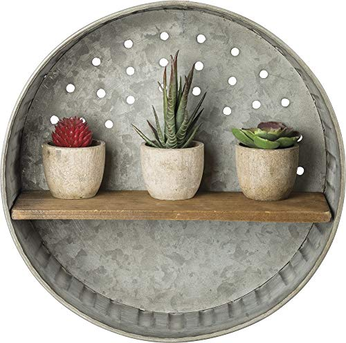 Primitives by Kathy Rustic-Inspired Wall Shelf, Metal and Wood from Primitives by Kathy