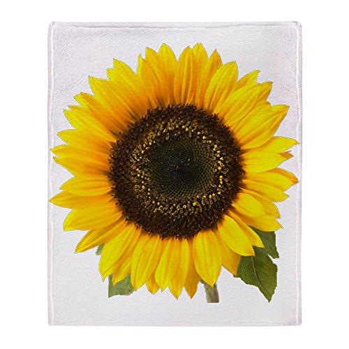 "CafePress Sunflower Soft Fleece Throw Blanket, 50""x60"" Stadi"