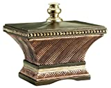 Eurofase 13672-010 Gemini Medium Keepsake Box, Antique Rust/Copper/Silver