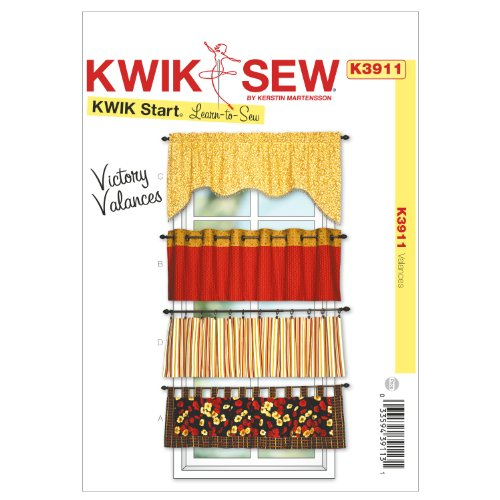Kwik Sew K3911 Victory Valances Sewing Pattern, No Size