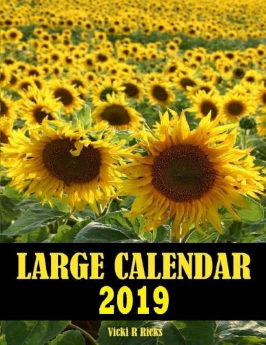 Large Calendar 2019: 14 Month Large Print Calendar for 2019 starts in Dec. 2018 and ends   in Jan. 2020. Large blank calendar boxes to write in and a ... Easy to see important dates at a glance.