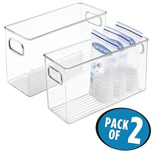 色々な mDesign Baby Food Organizer Bin for Breast Clear Milk Storage B077Z3D1PH Breast Bags/Formula - Pack of 2 10 x 4 x 6 Clear [並行輸入品] B077Z3D1PH, 料亭のふぐ宅配便藤吉:e42936e1 --- a0267596.xsph.ru