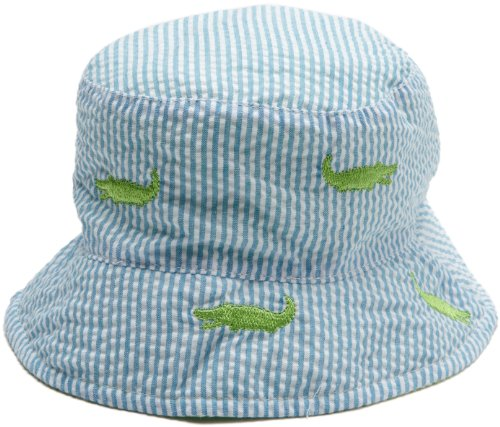 Mud Pie Baby-boys Newborn Gator Sun Hat, Blue, 18 Months-2T ()