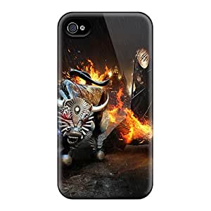 Cute Appearance Cover/tpu TPr516ESpC Monster Burn Case For Iphone 4/4s