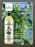 Castor Oil - 16 oz bottle with Premium Pump - Many Benefits for Hair, Skin, Digestion and Immunity - Pale Pressed by Essential Oil Labs
