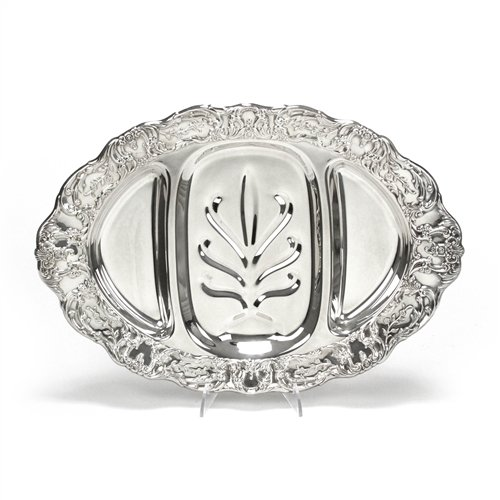 Grand Victorian by Wallace, Silverplate Tree Well Meat Platter