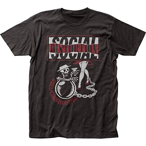 Social Distortion Ball and Chain Tour Fitted Jersey tee (Medium)