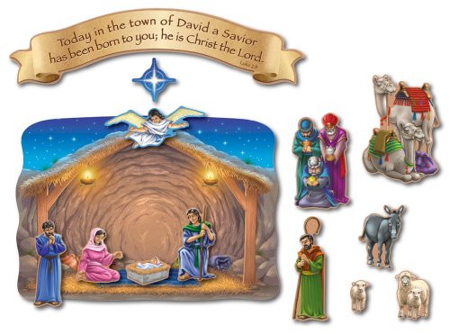 Carson Dellosa Christian Nativity and The Magi's Visit Bulletin Board Set (210006)