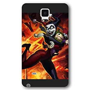 UniqueBox Harley Quinn Custom Phone Case for Samsung Galaxy Note 4, DC comics Harley Quinn Customized Samsung Galaxy Note 4 Case, Only Fit for Samsung Galaxy Note 4 (Black Frosted Shell)
