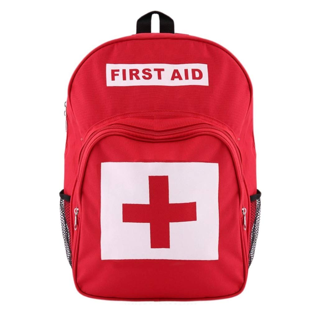 Red Cross Backpack First Aid Kit Bag Outdoor Sports Camping Hiking Travel Home Medical Emergency Survival Bag Amazing